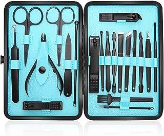 UPA Profesional Cortaúñas Acero Inoxidable Grooming Kit - Set de 20 Piezas para Manicura y Pedicura Limpiador Cutícula con...