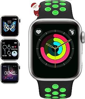JHYH Smartwatch,Reloj Inteligente Impermeable IP67 con Monitor de Sueño Pulsómetros Cronómetros Contador de Caloría, Pulse...