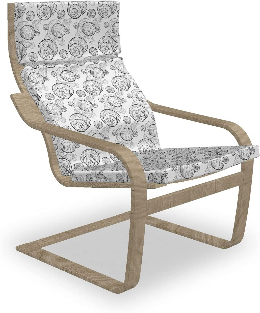 Ambesonne Snail Armchair Pad and Hand Monochromatic Cash special price quality assurance D Slipcover