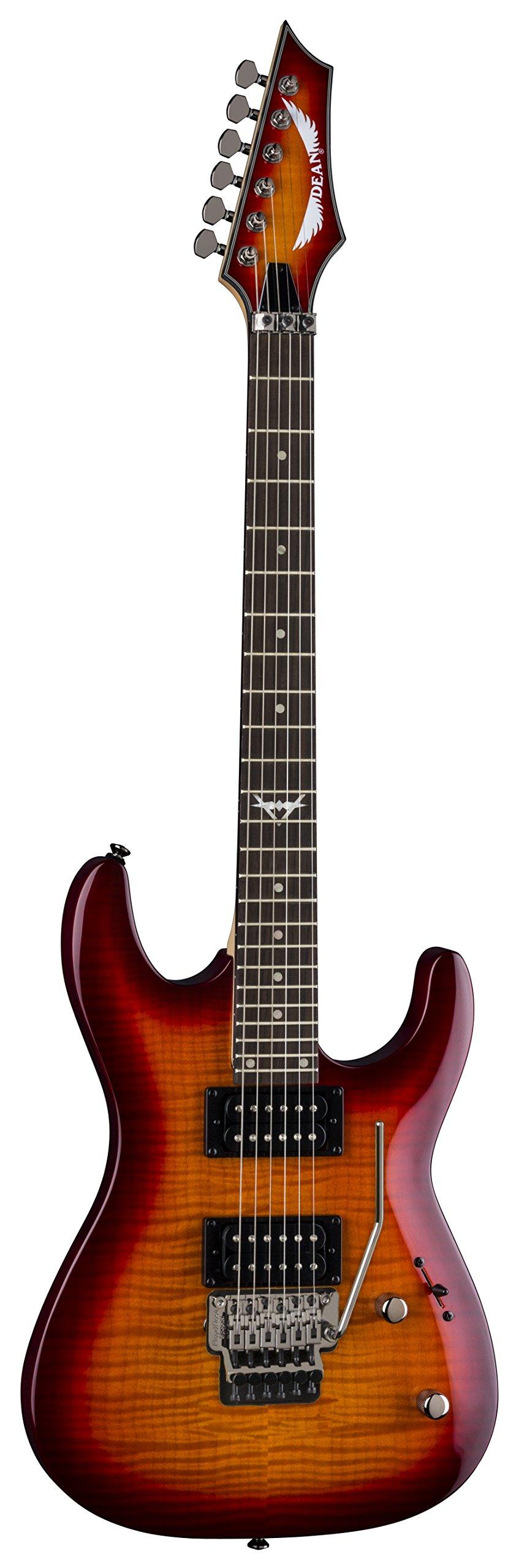 Cheap Dean 6 String Custom C350 Floyd Solid-Body Electric Guitar-Trans Amberburst (C350F TAB Black Friday & Cyber Monday 2019