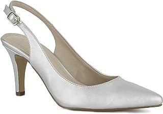 517a7b84 Amazon.es: Zapatos Plateados De Fiesta - Zapatos de tacón / Zapatos ...