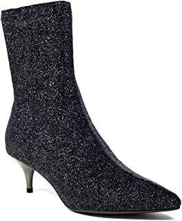 Sheena Glitter Sock Boot Gunmetal 150T05BK
