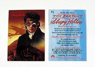 1999 Inkworks Tim Burton's Sleepy Hollow Promo Card (P1) Nm/Mt Johnny Depp