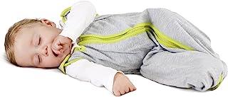 baby deedee Sleep Nest Lite Sleeping bag sack, Heather Gray Lime, Large (18-36 Months)