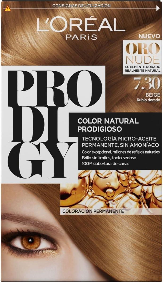 LÓreal Paris Prodigy Coloracion sin Amoniaco, Tono: 7.3 Gold ...