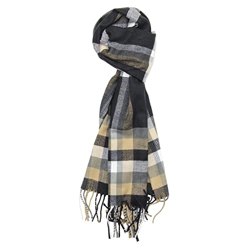 c3c239d94 Achillea Men's Cashmere Feel Tartan Plaid Checked Winter Warm Scarf