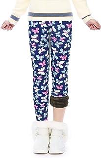 Slaixiu - Mallas cálidas para niñas con forro polar para invierno, impresión gruesa