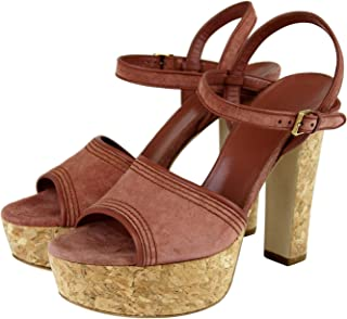 301b402af66c Gucci Women Brick Red Danielle Suede Platform Sandal 309974