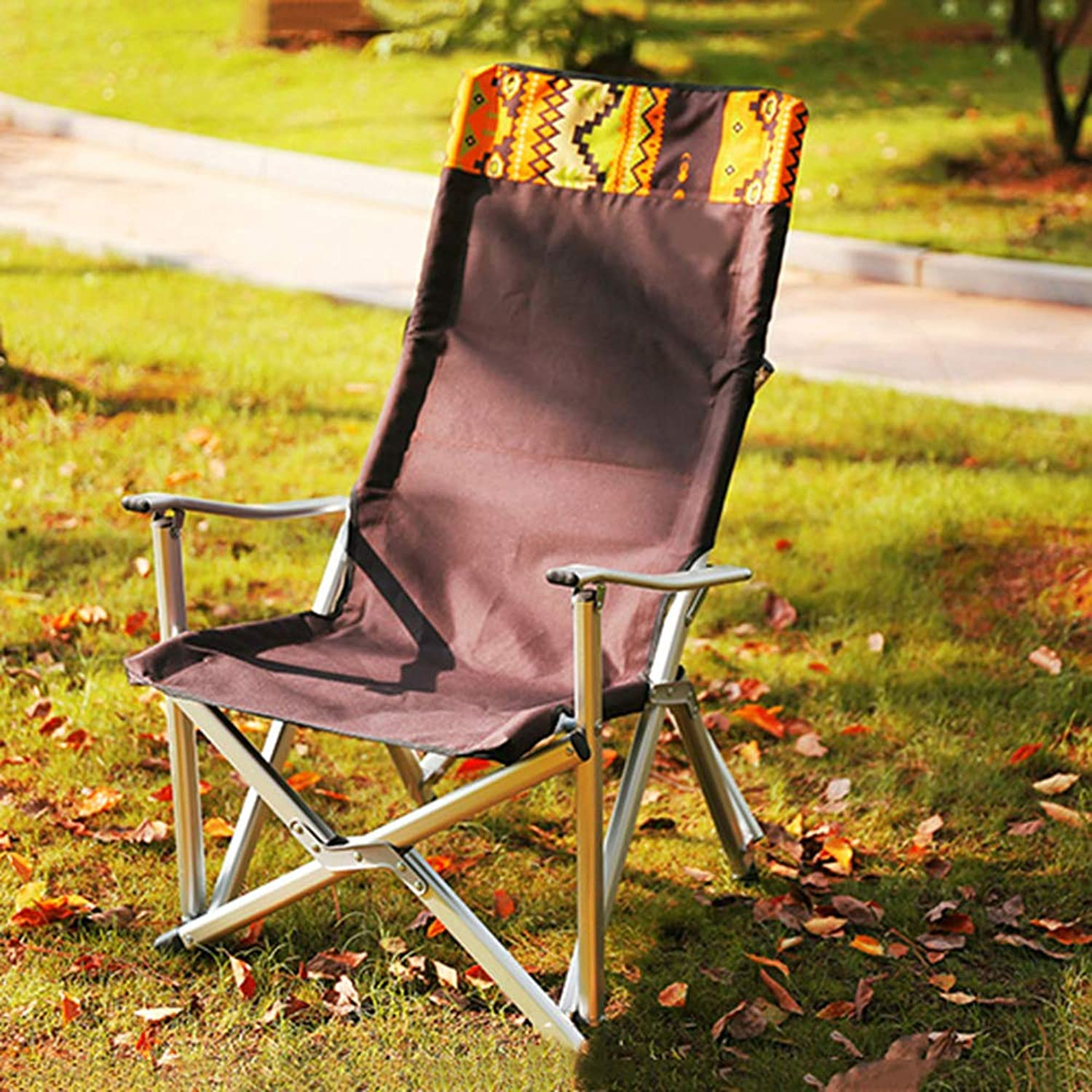 Hxx Camping & Wandern Angeln Stuhl Aluminium Material Multifunktionale Outdoor Chair Komfortable Liegestuhl Bequeme Lounge Chair Last 120kg,A