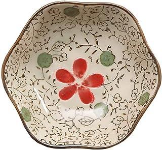 Voorgerecht borden Japanse stijl sojasaus gerechten set van 6, huishoudelijke keramische bloem dishe serveren voor knoede...