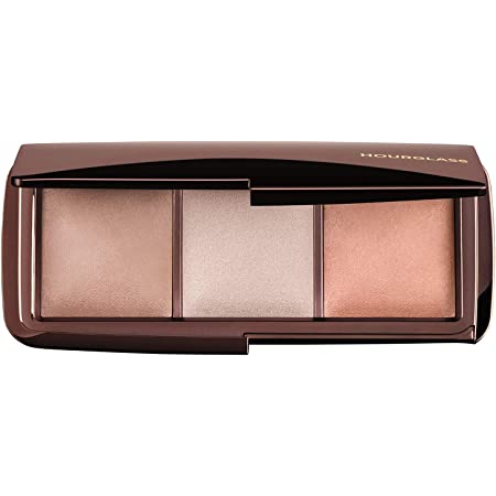 Hourglass Ambient Lighting Palette. Three-Shade Highlighting Palette for Your Best Complexion. (Dim light -Incandescent Light -Radiant Light). Cruelty-Free and Vegan