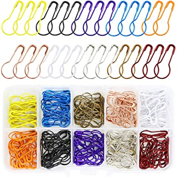 300Pcs Colorful Calabash Bulb Gourd Shape Tag Craft Safety Pins Crafts 21mm