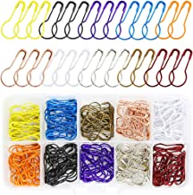 Oruuum 200 Pieces Safety Bulb Pins,Calabash Pin,Gourd Pins,Safety Pins with Craft Home Clothing Ornament,Arts Crafts Making DIY, Perfect Knitting Markers,10 Colors