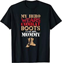 My Hero Wears Combat Boots Army T-shirt