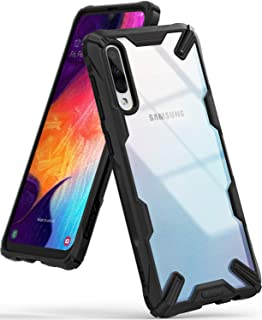 Ringke Fusion X Case Made to Fit Galaxy A50 Compatible with Galaxy A50s, Galaxy A30s - Black