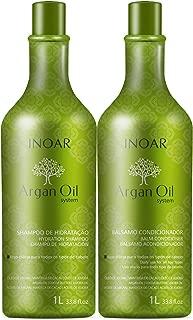 Kit Shampoo e Condicionador Argan Oil Hidratante, Inoar, 1000 ml