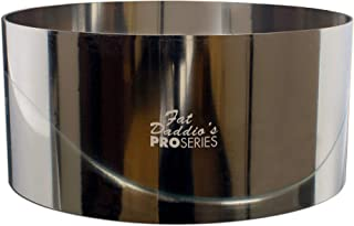 Fat Daddio's Stainless Steel Round Cake & Pastry Ring, 6 x 3 Inch