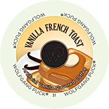 Wolfgang Puck Flavored Coffee Single Serve Cups, Vanilla French Toast, 96 Count