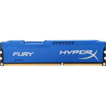 HyperX HX316C10F FURY - Memoria DDR3, 8GB, 1600MHz, CL10 240-pin, UDIM, color Azul