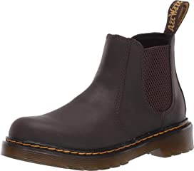 Kids Boys Girls Dr Martens Everley Black Softy Leather School Dm Shoes  Size