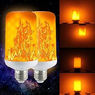 (2 Pack) Golspark LED Flame Effect Light Bulb, 7 Watt Standard E26 Base Flickering Fire Light, Halloween & Christmas Holiday Atmosphere Decorative Lamp, 4 Mode Type