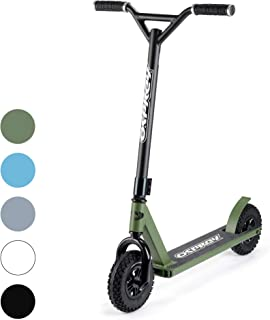 Osprey Dirt Scooter with Off Road All Terrain Pneumatic Trail Tires - 5 Colors Available - Offroad Scooter for Adults or Kids