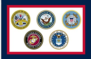 FayLagee-yx United States Armed Forces Flag, 3'x5' Banner