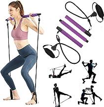 AMODAI Portable Pilates Bar Kit with Resistance Band Yoga Exercise Pilates Bar with Foot Loop Toning Bar Yoga Pilates for ...
