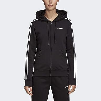 Amazon.com: adidas Women's Essentials 3-stripes Fleece Full-zip ...