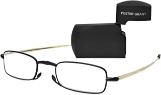 Foster Grant Men's Gideon Black 1017238-150.COM Rectangular Readers