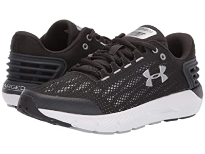 Under Armour Kids UA BGS Charged Rogue (Big Kid) (Jet Gray/White/Metallic Silver) Boys Shoes