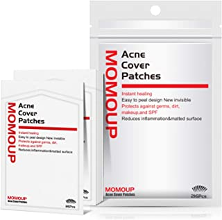 Acne Patch, Momoup Acne Pimple Master Patch 216 dots, Remover Absorbing Hydrocolloid Blemish Spot Treatment Strips Acne Stickers, Waterproof & Bacteria Free Patches Quick Healing Pimples