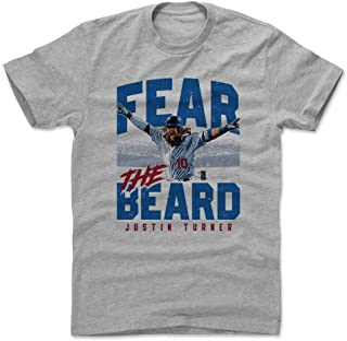 500 LEVEL Justin Turner Shirt - Los Angeles Baseball Men's Apparel - Justin Turner Fear The Beard