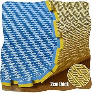 YANGJUN Interlocking Foam Mats Kids Double Sided Non-slip Waterproof Protection Checkered Pattern Thicken, 2cm Thick, 3 Co...