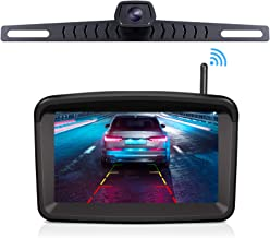 """Wireless Backup Camera with 5"""" HD Monitor Stable Digital Signal for Trucks/traliers/RVs/Pickup/Camper/RVs/Van with Monitor Xroose Backup Camera F3 License Plate IP69K Waterproof 152�Night Vision"""