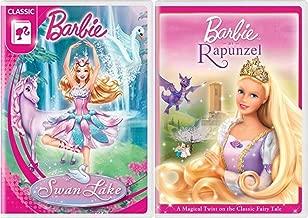 Magical Twist Dancing Barbie Swan Lake + Rapunzel Classic Fairy Tale Story 2 Princess Pack Girls Fun Cartoon DVD Double Feature