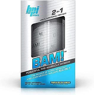 BPI BAM Fierce Blue Lemon 25 Servings