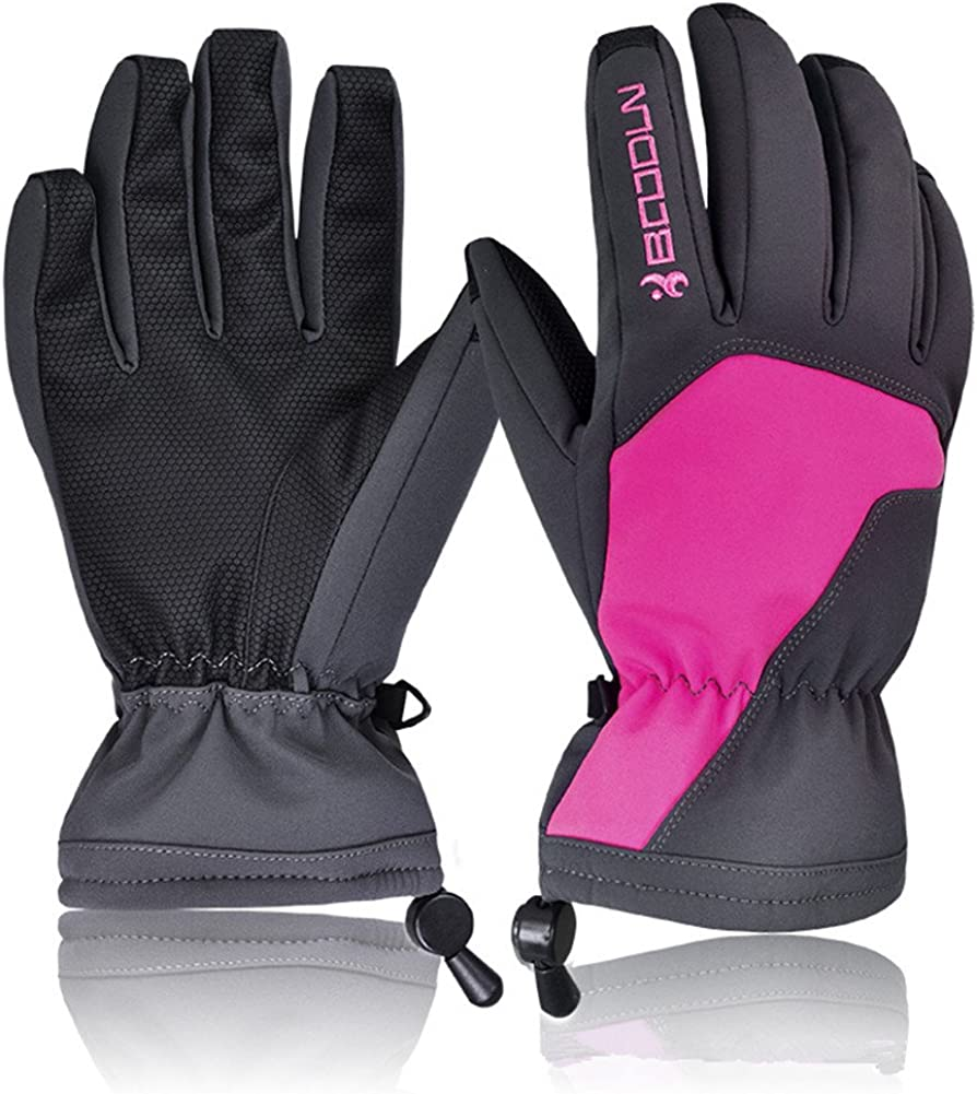 Ski Gloves Waterproof & Windproof Snowboard Ice Skating Gloves Warm Touch Screen Gloves