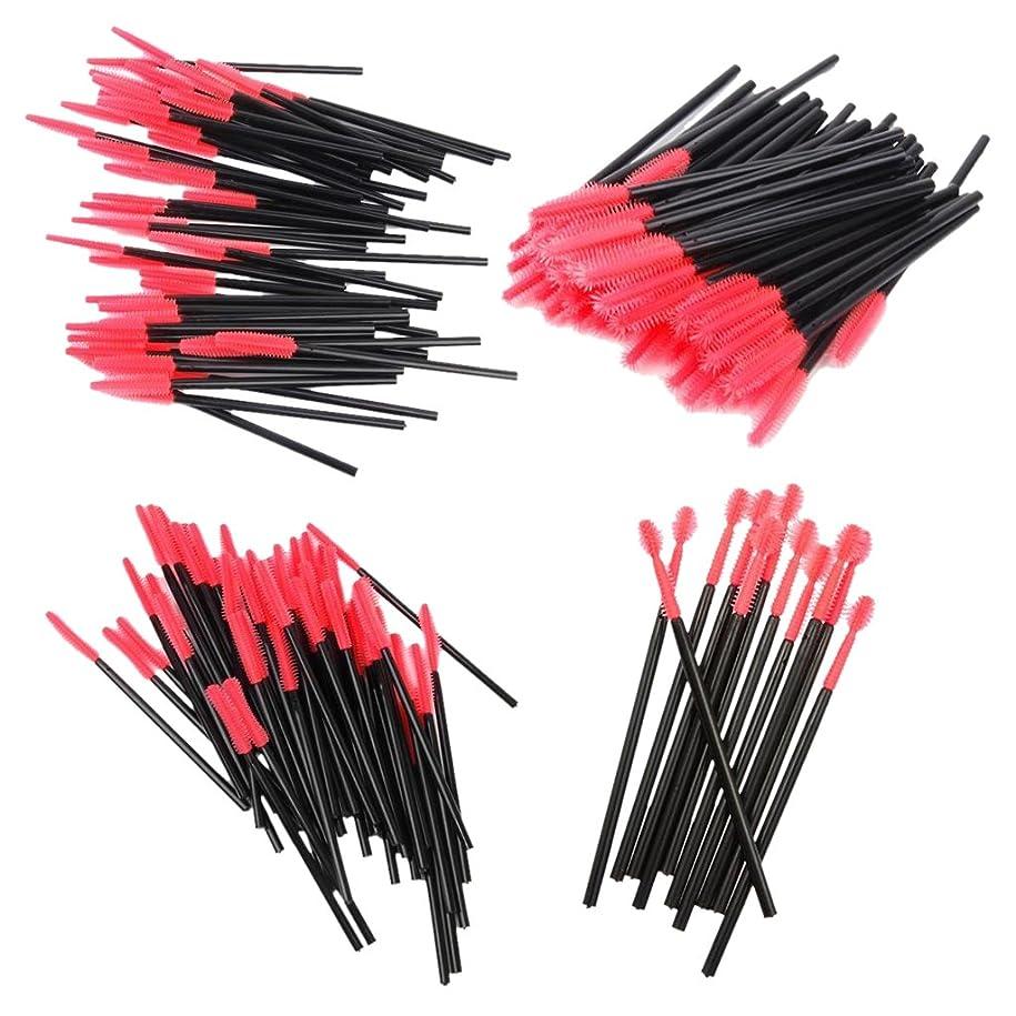 娯楽大惨事休憩する【ノーブランド品】化粧筆 まつげブラシ スクリューブラシ 4種類 使い捨て 約200本入り