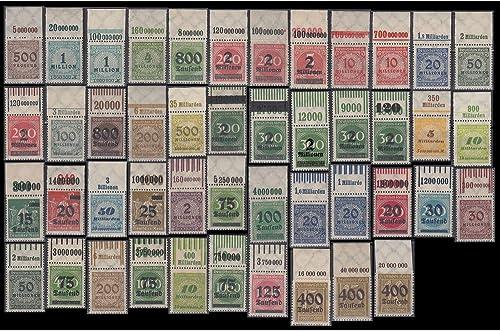 Goldhahn Deutsches Reich 46 postfrische Oberrandstücke Briefmarken für Sammler