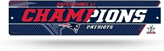 Rico Industries NFL Unisex NFL Super Bowl LI Champs HIGH-RES Plastic Street Sign