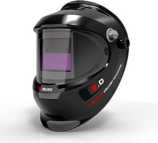 YESWELDER True Color Solar Power Auto Darkening Welding Helmet,2 Arc Sensor 4/5-9 Welder Mask for TIG MIG Arc Weld Grinding Weld Hood