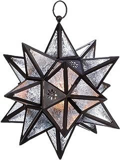 VERDUGO GIFT Moroccan Hanging Star Lantern