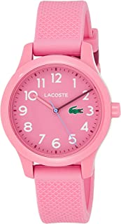 Kids' TR90 Quartz Watch with Rubber Strap, Pink, 14...
