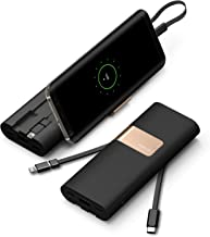 iWALK 20000mAh Alta Capacidad Móvil Batería Externa, Power Pack Cargador PD Quick Charge 3.0 Rápida Carga Power Bank con Cables Type C & Micro USB Compatible para Samsung S8 iPhone X XS y Mucho más