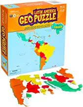 GeoToys — GeoPuzzle Latin America — Educational Kid Toys for Boys and Girls, 50 Piece Geography Jigsaw Puzzle, Jumbo Size Kids Puzzle — Ages 4 and up