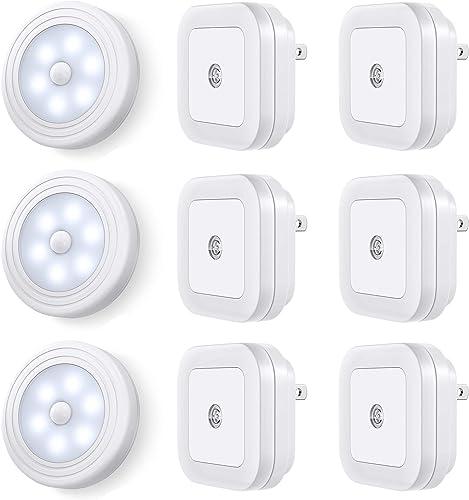 high quality Vont Motion Sensor Lights 3-Pack + Night Lights 6-Pack Bundle - Must-Have Lighting high quality Combo for Every Home - Best Motion Sensitive Night Lighting wholesale for Stairways, Hallways - Efficient, Smart, Safe online