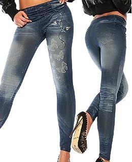884b74d9db8 Mallas para mujer de vaquero sintético, ajustados, leggings, jeggings,  elásticos, de