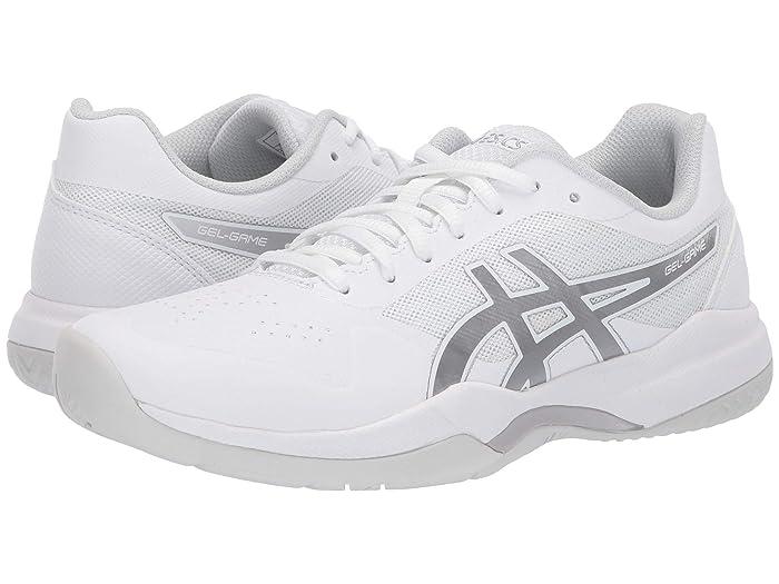 ASICS  Gel-Game 7 (White/Silver) Womens Tennis Shoes