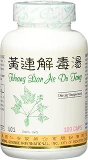 Huang Lian Detox Formula Dietary Supplement 500mg 100 capsules (Huang Lian Jie Du Tang) L01 100% Natural Herbs